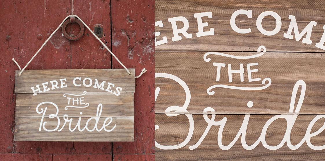 imagen de un cartel de bienvenida a una boda